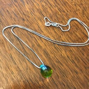 Jewelry - Beautiful mermaid glass drop pendent necklace!